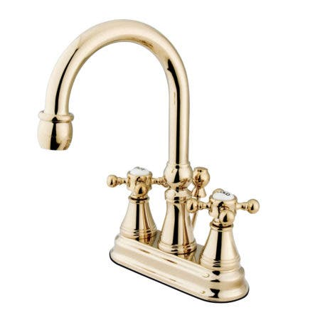Kingston Brass KS2612BX 4 in. Centerset Bathroom Faucet, Polished Brass
