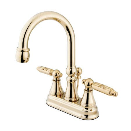 Kingston Brass KS2612GL 4 in. Centerset Bathroom Faucet, Polished Brass