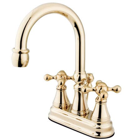 Kingston Brass KS2612KX 4 in. Centerset Bathroom Faucet, Polished Brass