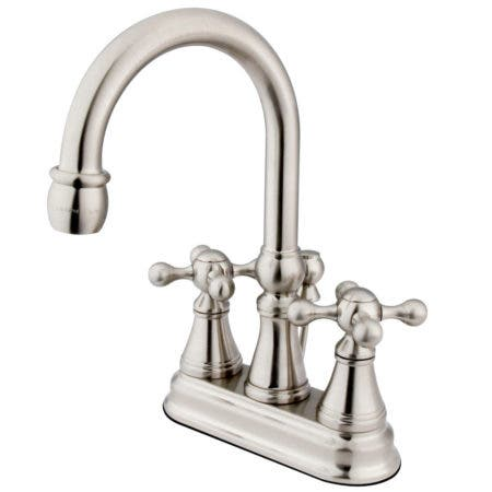 Kingston Brass KS2618KX 4 in. Centerset Bathroom Faucet, Brushed Nickel