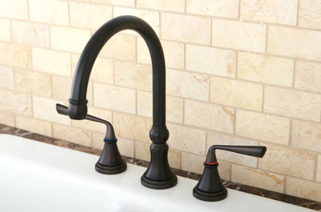 Faucet Kitchen Design Faucets Remodeling The Ks2795zlls Silver Sage Widespread Brings Mid Century Modern