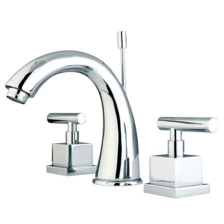 Kingston Brass KS2961CQL Claremont Widespread Lavatory Faucet with Pop-Up, Polished Chrome