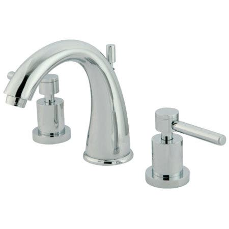 Kingston Brass KS2961DL Concord Widespread Lavatory Faucet with Brass Pop-Up, Polished Chrome