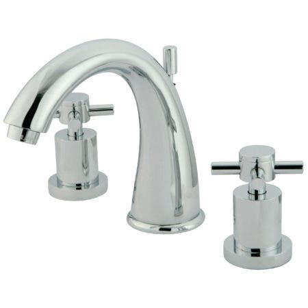 Kingston Brass KS2961DX Concord Widespread Lavatory Faucet with Brass Pop-Up, Polished Chrome