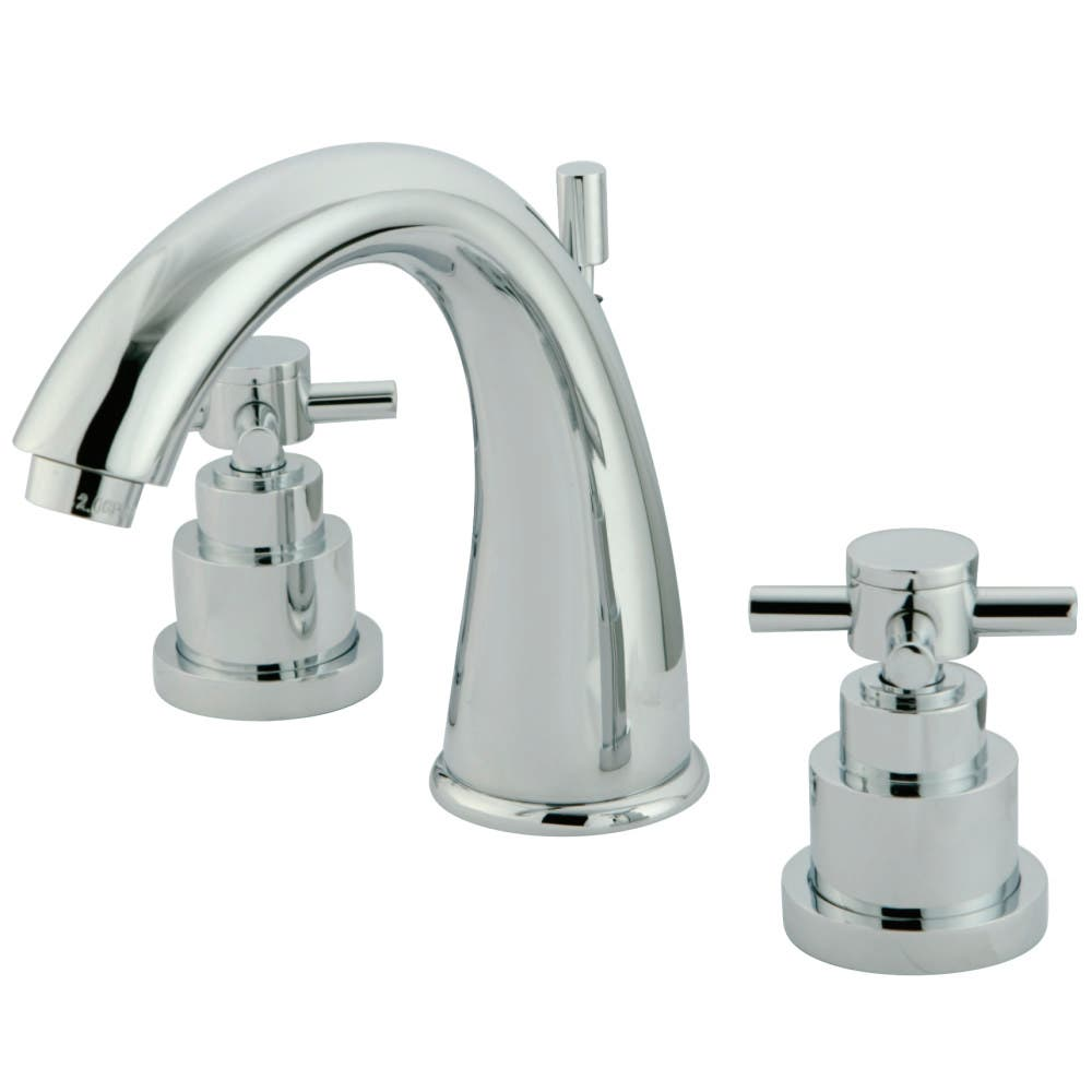 Kingston Brass KS2961EX 8 in. Widespread Bathroom Faucet, Polished Chrome