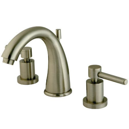 Kingston Brass KS2968DL Concord Widespread Lavatory Faucet with Brass Pop-Up, Satin Nickel