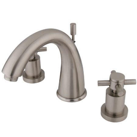 Kingston Brass KS2968DX Concord Widespread Lavatory Faucet with Brass Pop-Up, Satin Nickel