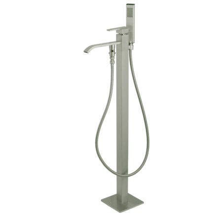 Kingston Brass KS4138QLL Executive Freestanding Tub Faucet with Hand Shower, Brushed Nickel