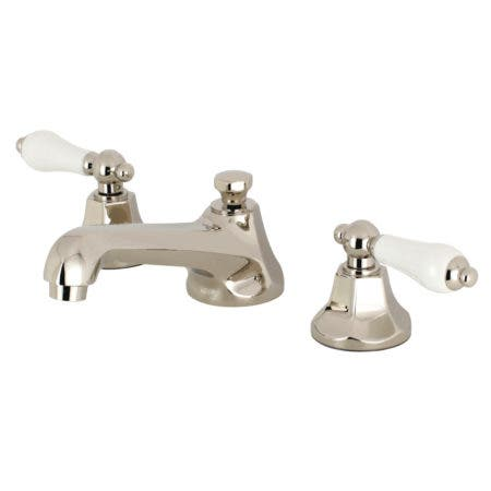 Kingston Brass KS4466PL 8-Inch Widespread Lavatory Faucet, Polished Nickel