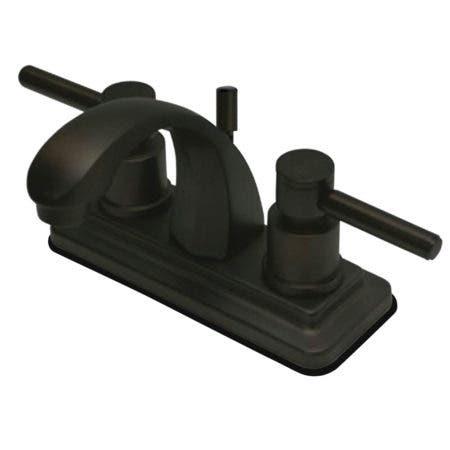 "Kingston Brass KS4645DL Concord 4"" Centerset Lavatory Faucet with Pop-Up, Oil Rubbed Bronze"