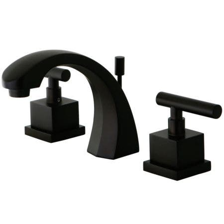 Kingston Brass KS4985CQL Claremont Widespread Lavatory Faucet with Pop-Up, Oil Rubbed Bronze