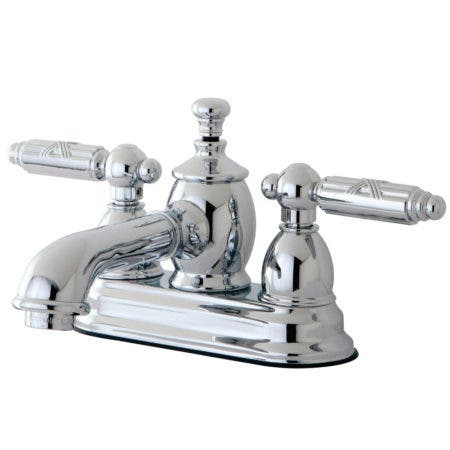 Kingston Brass KS7001GL Georgian 4-Inch Centerset Lavatory Faucet with Brass Pop-Up, Polished Chrome