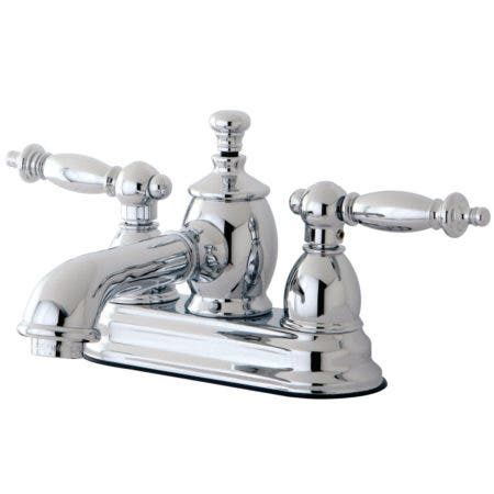 Kingston Brass KS7001TL 4 in. Centerset Bathroom Faucet, Polished Chrome