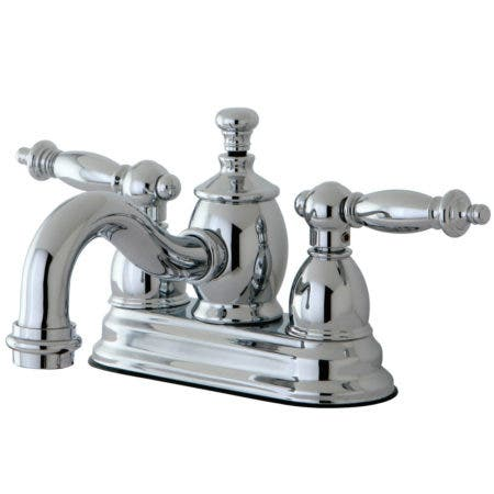 Kingston Brass KS7101TL 4 in. Centerset Bathroom Faucet, Polished Chrome