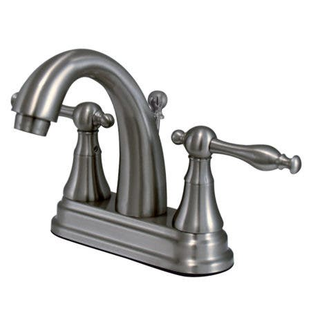 Kingston Brass KS7618NL 4 in. Centerset Bathroom Faucet, Brushed Nickel