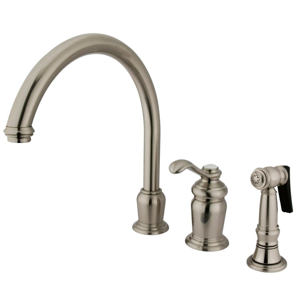 Kingston Brass KS7828TLBS Single-Handle Widespread Kitchen Faucet, Brushed Nickel