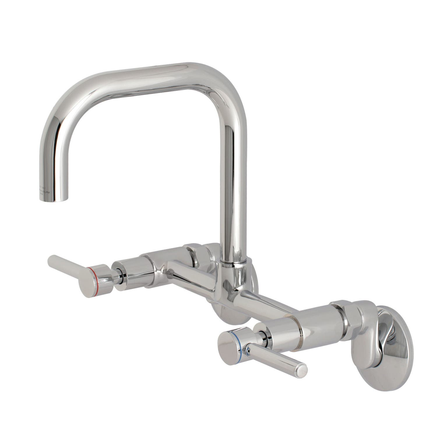 Kingston Brass KS813C Concord 8-Inch Adjustable Center Wall Mount Kitchen  Faucet, Polished Chrome