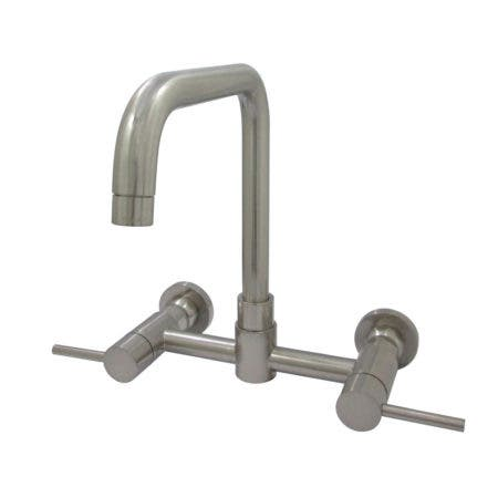 Kingston Brass Concord 8-Inch Centerset Wall Mount Kitchen Faucet, Brushed Nickel
