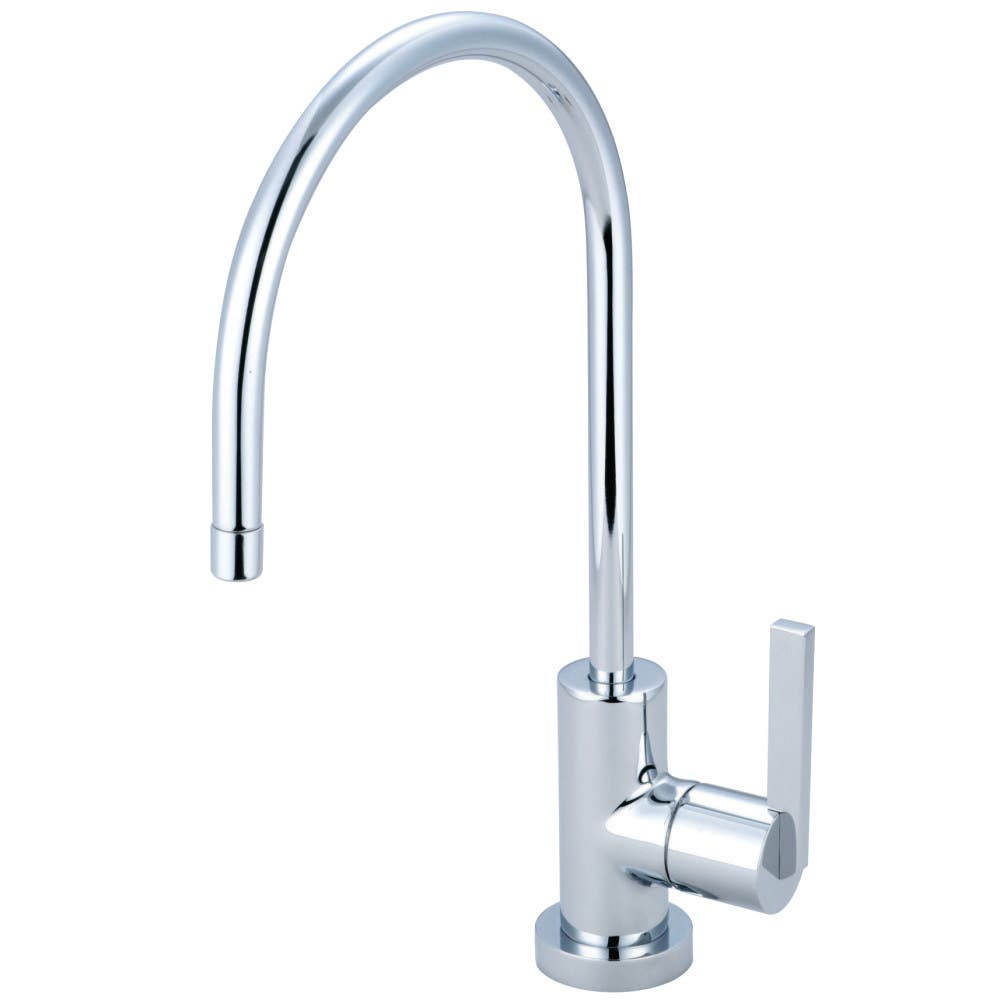 Kingston Brass KS4324PL METROPOLITAN ROMAN TUB FILLER Polished Chrome/Polished Brass, PORCELAIN LEVER HANDLE