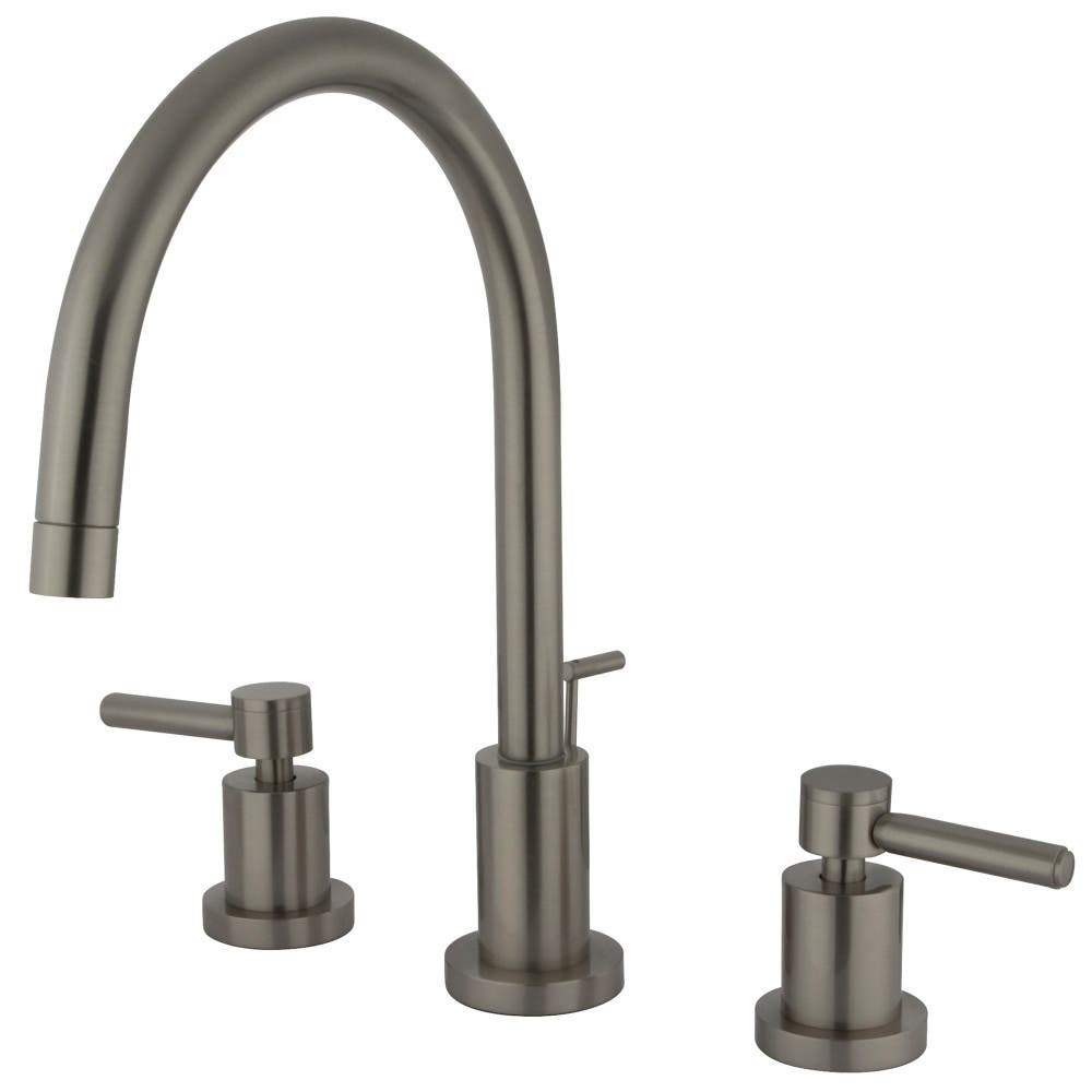 Kingston Brass KS8928DL Concord Widespread Lavatory Faucet with Brass Pop-Up, Satin Nickel