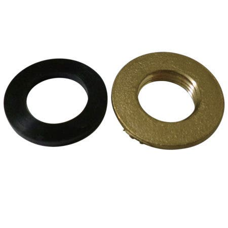 Kingston Brass KSBLN12 Brass Lock Nuts with Black Rubber Washer