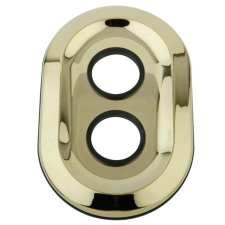 Kingston Brass KSE36320 Oval Plate, Polished Brass