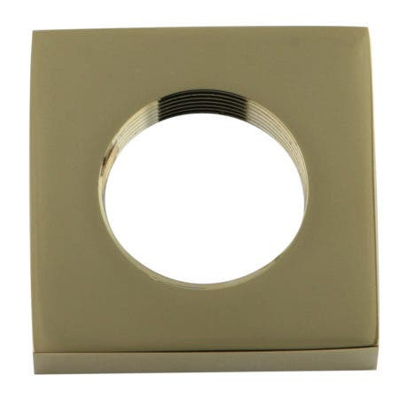 Kingston Brass KSHF2362QLL Executive Square Flange, Polished Brass