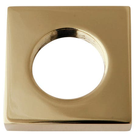 Kingston Brass KSHF2952QLL Executive Square Flange, Polished Brass