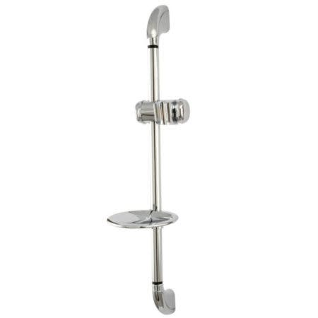 Kingston Brass KSX2521SG Shower Slide Bar with Soap Dish, Polished Chrome