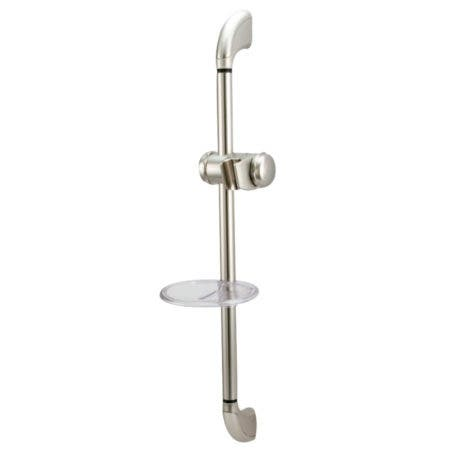 Kingston Brass KSX2528SG Shower Slide Bar with Soap Dish, Brushed Nickel