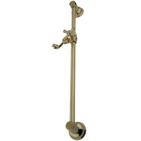 "Kingston Brass KSX3522SG Showerscape 24"" Shower Slide Bar, Polished Brass"