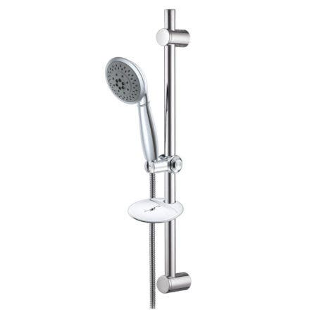 Kingston Brass KX2522SBB Showerscape 5-Function Hand Shower with Slide Bar Kit, Polished Chrome