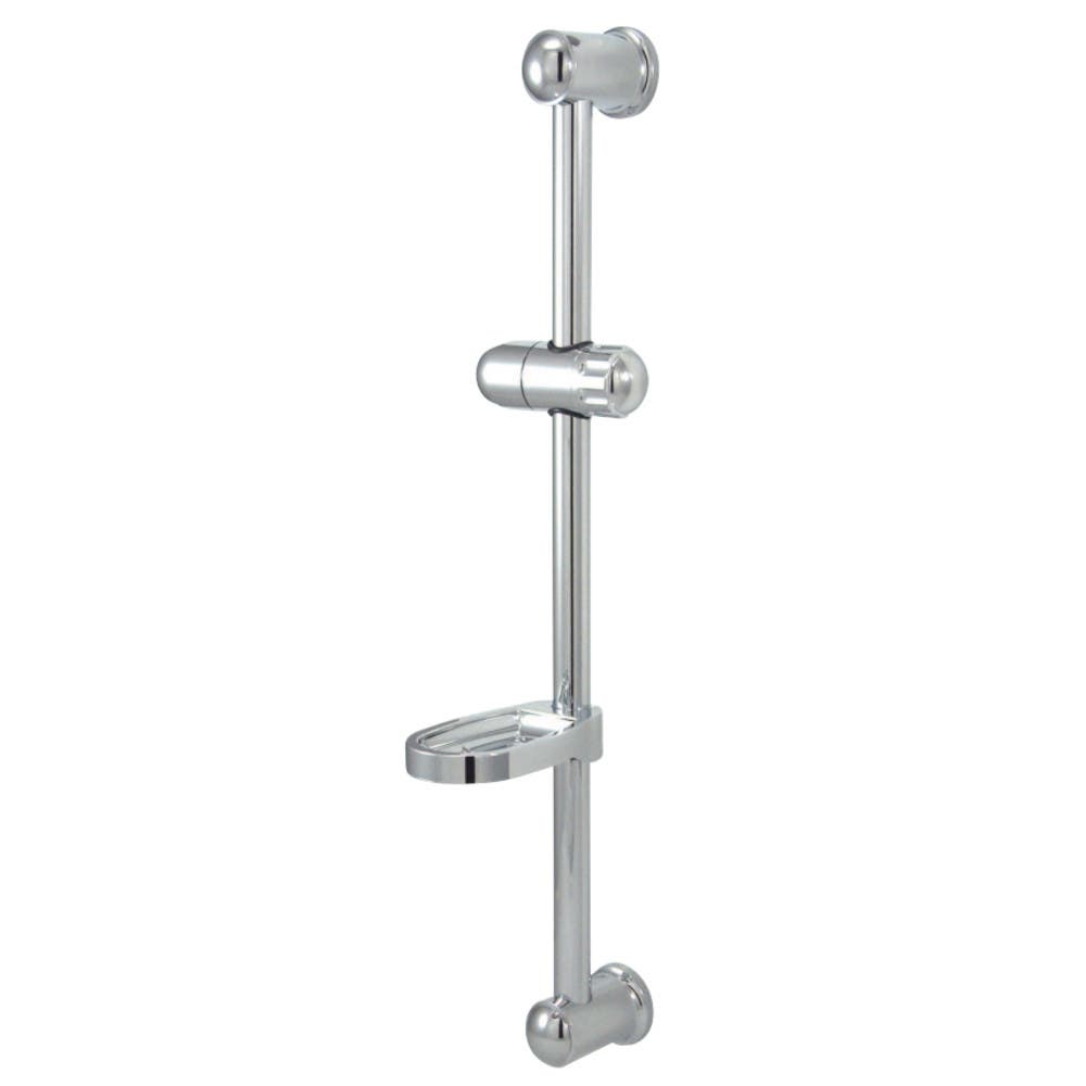 """Kingston Brass KX2522SG 24"""" Glide Bar with Acrylic Soap Dish and Hand Shower Holder, Polished Chrome"""