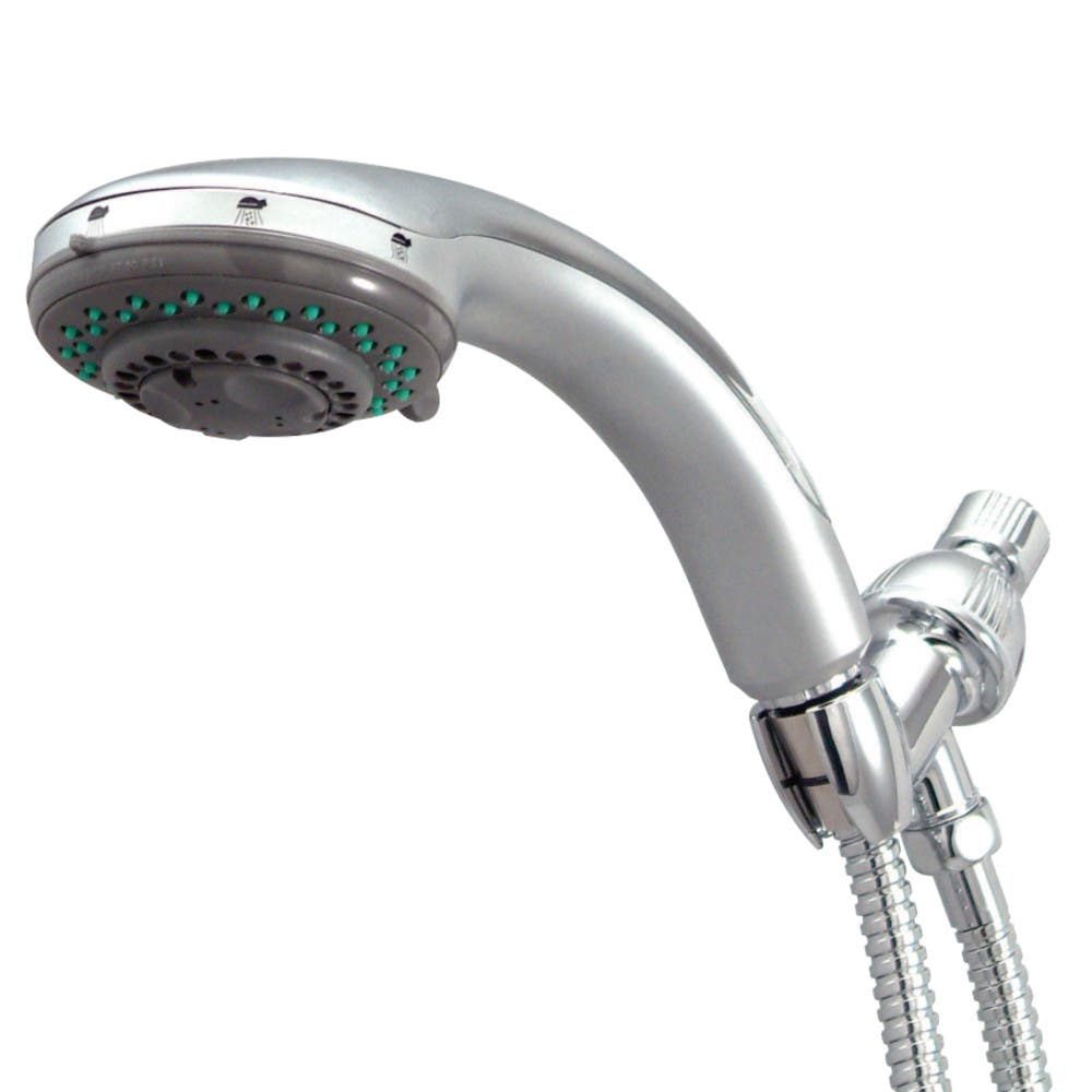 Kingston Brass KX2528B 5 Setting Hand Shower with Stainless Steel Hose, Chrome
