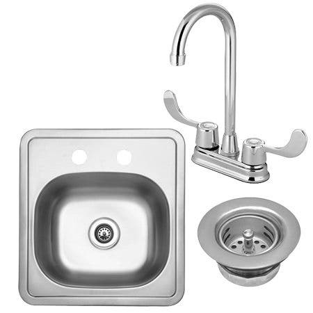 Kingston Brass Kz16156kb460ada Bar Sink And Faucet 3 In 1 Combo