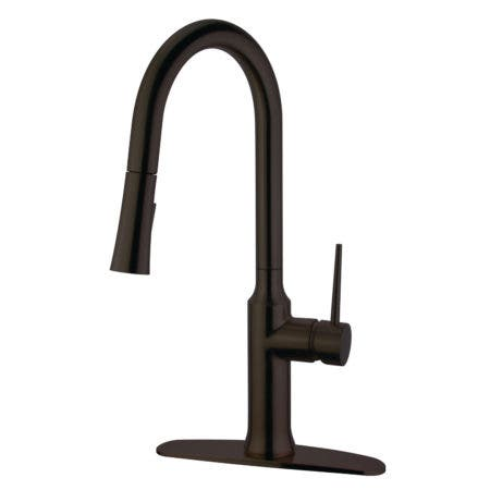 Gourmetier LS2725NYL Single-Handle Pull-Down Kitchen Faucet, Oil Rubbed Bronze