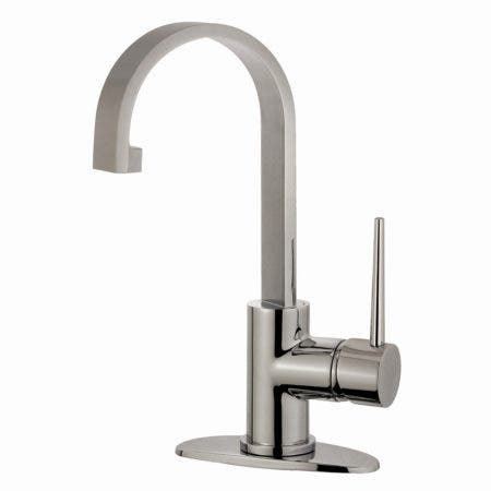 Fauceture LS8218NYL New York Single-Handle Lavatory Faucet with Push Pop-Up Drain, Brushed Nickel