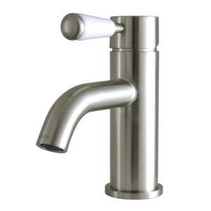 Fauceture LS8228DPL Paris Single Hole Single-Handle Bathroom Faucet with Deck Plate and Drain, Brushed Nickel
