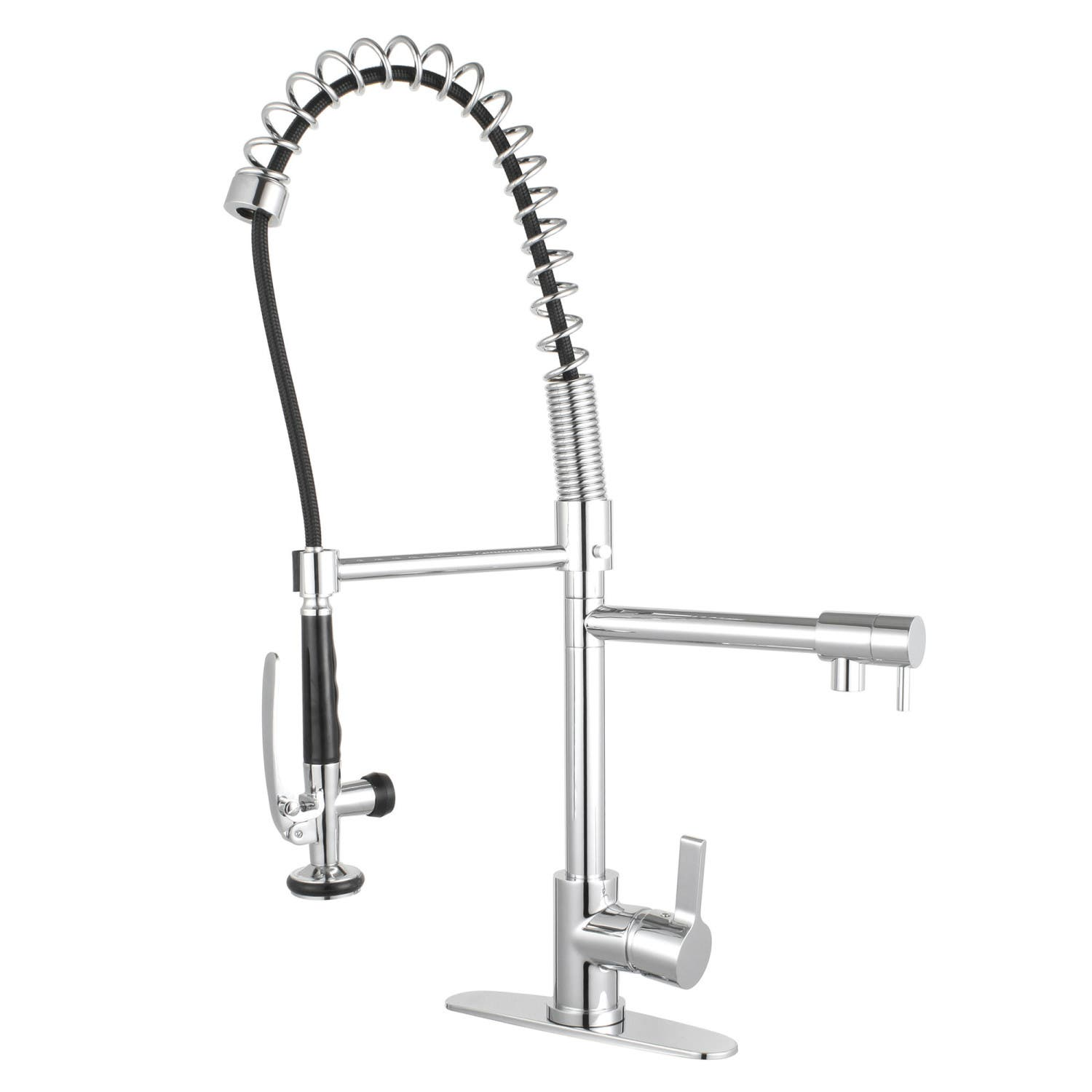 Gourmetier Ls8501ctl Continental Single Handle Pre Rinse Kitchen