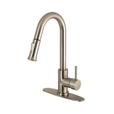 Gourmetier LS8628DL Concord Single-Handle Pull-Down Kitchen Faucet, Brushed Nickel