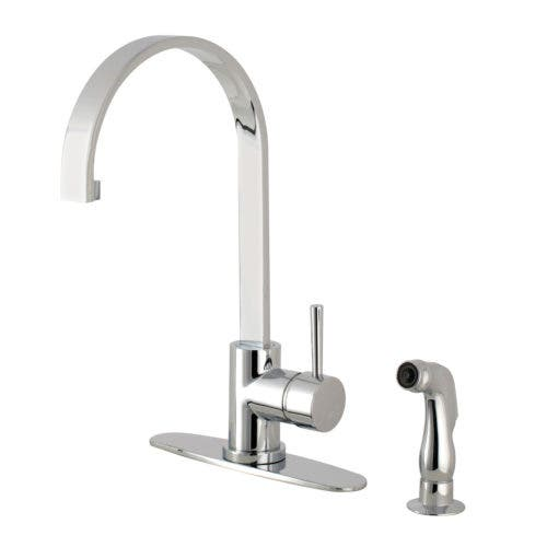 Amazing Gourmetier Ls8711Dlsp Concord Single Handle Kitchen Faucet With Side Sprayer Polished Chrome Kingston Brass Beutiful Home Inspiration Xortanetmahrainfo