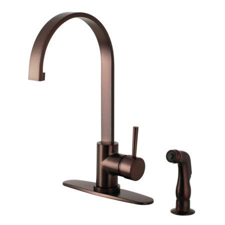 Gourmetier LS8715DLSP Concord Single-Handle Kitchen Faucet with Side Sprayer, Oil Rubbed Bronze