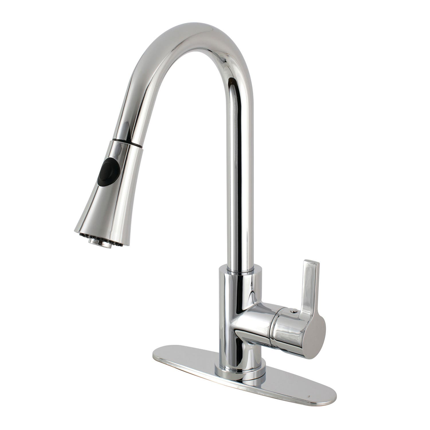 Gourmetier LS8721CTL Continental Single-Handle Pull-Down Kitchen Faucet,  Polished Chrome