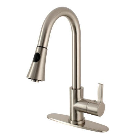 Gourmetier LS8728CTL Continental Single-Handle Pull-Down Kitchen Faucet, Brushed Nickel