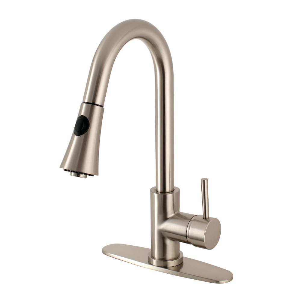 Gourmetier LS8728DL Concord Kitchen Faucet With Pull Down Sprayer, Satin  Nickel