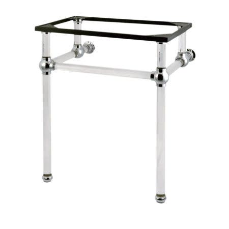 Kingston Brass VAH242030C Templeton 24-Inch x 20-3/8-Inch x 30-Inch Acrylic Console Sink Legs, Polished Chrome