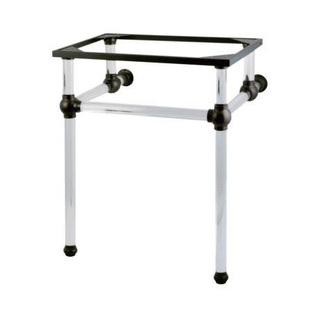Kingston Brass VAH242030ORB Templeton 24-Inch x 20-3/8-Inch x 30-Inch Acrylic Console Sink Legs, Oil Rubbed Bronze