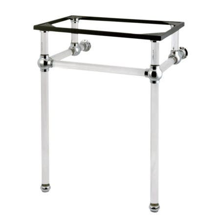 Kingston Brass VAH282033C Templeton 24-Inch x 20-3/8-Inch x 33-1/4-Inch Acrylic Console Sink Legs, Polished Chrome