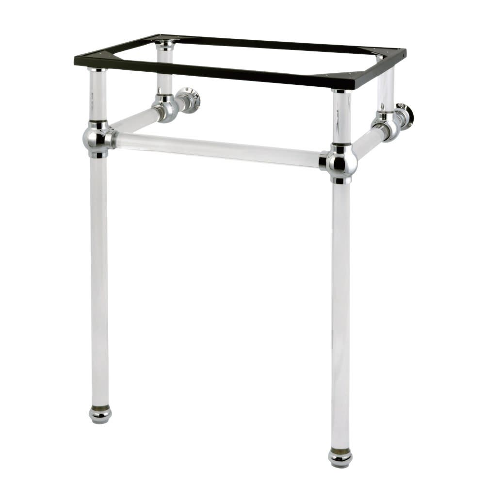 Kingston Brass VAH282033C Templeton 24-Inch x 20-3/8-Inch x 33-3/16-Inch Acrylic Console Sink Legs, Polished Chrome