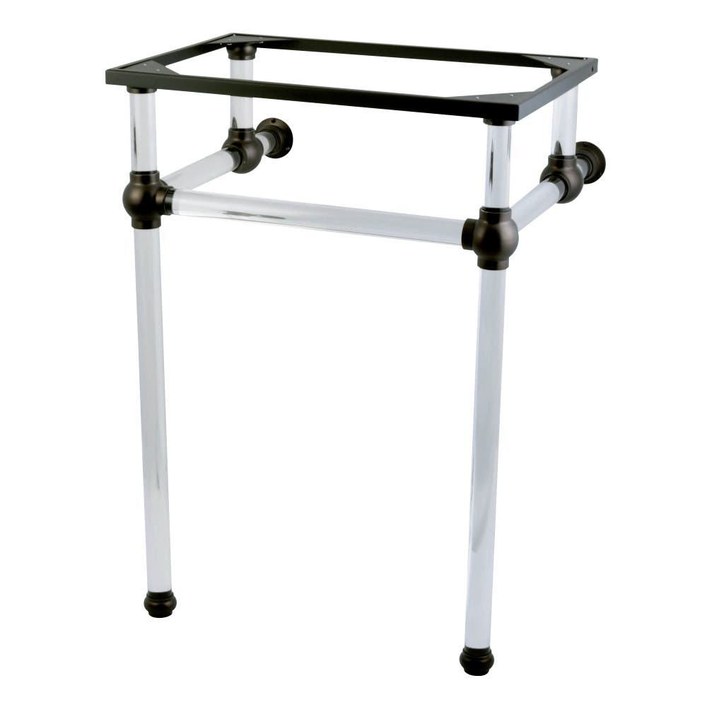 Kingston Brass VAH282033ORB Templeton 24-Inch x 20-3/8-Inch x 33-3/16-Inch Acrylic Console Sink Legs, Oil Rubbed Bronze